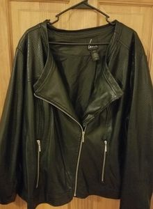 "Lane Bryant cruelty free ""leather"" moto jacket"
